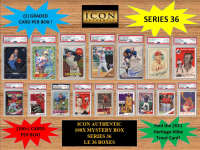 ICON AUTHENTIC  100X MYSTERY BOX SERIES 36 100+ Cards per Box at PristineAuction.com