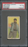 1909-11 T206 #270 Nap Lajoie / Throwing - Sweet Caporal (PSA 4)