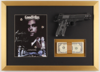 "Henry Hill Signed ""Goodfellas"" 16.5x23 Custom Framed Photo Display with Replica Gun & Prop Money Inscribed ""Goodfella"" (PSA COA) at PristineAuction.com"