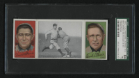 1912 Hassan Triple Folders T202 #20 Chance Beats Out a Hit / David Shean / Frank Chance (SGC 7) at PristineAuction.com
