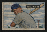 1951 Bowman #253 Mickey Mantle RC