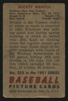 1951 Bowman #253 Mickey Mantle RC at PristineAuction.com