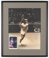 Chris Evert Signed 15.5x18.5 Custom Framed Photo Display with Card (JSA COA)
