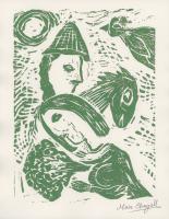 "Marc Chagall Signed LE ""Couple and Horse"" 8.5x11 Original Linocut Print (PA LOA)"