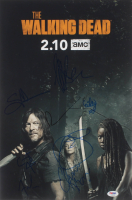 """The Walking Dead"" 12x18 Photo Cast-Signed by (9) with Jeffrey Dean Morgan, Norman Reedus, Melissa McBride, Greg Nicotero, Cailey Flemming (PSA LOA) at PristineAuction.com"
