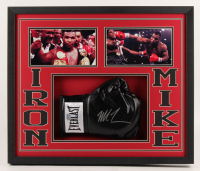 Mike Tyson Signed 21.75x25.75x2 Custom Framed Boxing Glove Shadowbox Display (Fiterman Hologram) at PristineAuction.com