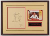 Dr. Seuss Signed 15.5x21.5 Custom Framed Print Display (JSA LOA)