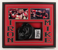 Mike Tyson Signed 21.75x25.75x2 Custom Framed Boxing Glove Shadowbox Display (Fiterman Hologram)