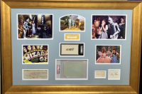 """The Wizard of Oz"" 28x40 Custom Framed Cut Display Signed by (6) with Judy Garland, Ray Bolger, Jack Haley, Margaret Hamilton, Billie Burke & Bert Lahr (JSA LOA & PSA Encapsulated) at PristineAuction.com"