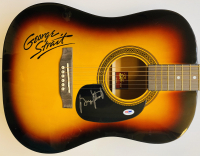 George Strait Signed Rogue Full-Size Acoustic Guitar (PSA COA) at PristineAuction.com
