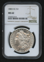 1883-CC $1 Morgan Silver Dollar (NGC MS 62) at PristineAuction.com