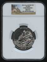 2012 5oz Silver Jumbo 25¢ - Acadia - Maine - America The Beautiful - ATB - Jumbo Quarter - Early Releases (NGC MS 69 PL) at PristineAuction.com