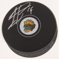 Jonathan Toews Signed Chicago Blackhawks Logo Hockey Puck (JSA COA)
