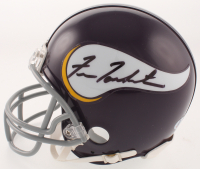 Fran Tarkenton Signed Minnesota Vikings Mini Helmet (Beckett COA)