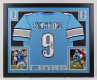 Matthew Stafford Signed 35.5x43.5 Custom Framed Jersey (JSA COA & Stafford Hologram)
