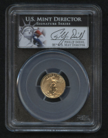 2013 $5 Five Dollars American Gold Eagle Saint-Gaudens 1/10 Oz Gold Coin - Signed by U.S. Mint Director Philip Diehl (PCGS MS 70) at PristineAuction.com