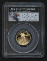 2012-W $10 Ten Dollars American Gold Eagle Saint-Gaudens 1/10 Oz Gold Coin - Signed by U.S. Mint Director Philip Diehl - Deep Cameo (PCGS PR 70 DCAM)