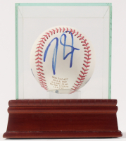 Mike Trout Signed LE OML Baseball with Display Case (Beckett COA)