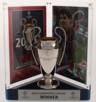 "Lionel ""Leo"" Messi Signed Barcelona 2011 UEFA Replica Trophy Display (Icons COA) at PristineAuction.com"