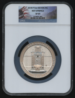 2010-P 5oz Silver Jumbo 25¢ - Hot Springs - Arkansas - America The Beautiful - ATB - Jumbo Quarter (NGC SP 69) at PristineAuction.com