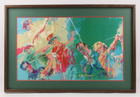 "LeRoy Neiman ""Legends of Golf"" 26x39 Custom Framed Print Display"