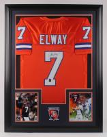 John Elway Signed 34x44 Custom Framed Jersey (JSA COA & Elway Hologram)