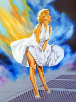 "Hector Monroy Signed ""Marilyn Monroe"" 30x40 Original Oil Painting on Canvas (PA LOA) at PristineAuction.com"