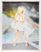 "Hector Monroy Signed ""Marilyn Monroe"" 30x39 Original Oil Painting on Canvas (PA LOA) at PristineAuction.com"