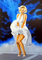"Hector Monroy Signed ""Marilyn Monroe"" 28x39 Original Oil Painting on Canvas (PA LOA) at PristineAuction.com"