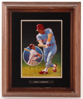 "Mike Schmidt Signed LE Philadelphia Phillies ""Only Perfect"" 9.75x11.75 Custom Framed Porcelain Plaque Display Inscribed ""4/18/87"" (Gartlan Authentic) at PristineAuction.com"