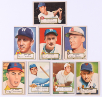 Lot of (8) 1952 Topps Baseball Cards with #69 Virgil Stallcup, #60 Sid Hudson, #58 Bob Mahoney, #94 Sam Mele, #239 Rocky Bridges, #68 Cliff Chambers, #229 Gene Beardon, & #125 Bill Rigney