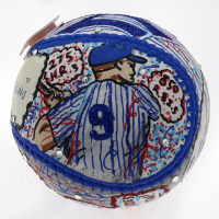 Roger Maris Signed Baseball Hand-Painted by Charles Fazzino (JSA LOA & Fazzino LOA) at PristineAuction.com