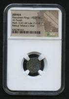 "Biblical ""Widow's Mite"" 135-37 BC Maccabean Kings AE Prutah (NGC Encapsulated) at PristineAuction.com"