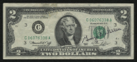 George Wallace Signed 1976 $2 Two-Dollar U.S. Federal Reserve Note (JSA COA)