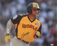Yoan Moncada Signed 2016 MLB Future's Game 16x20 Photo (PSA Hologram) at PristineAuction.com
