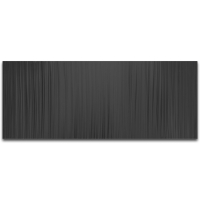 """""""Black Lines 60"""" 24x60x1 Modern Metal Art on Metal by Helena Martin at PristineAuction.com"""