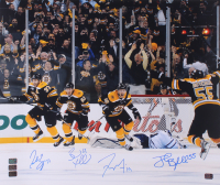 "Boston Bruins ""2011 Stanley Cup"" 20x24 Photo Signed By (4) with Patrice Bergeron, Brad Marchand, Johnny Boychuk & Tyler Seguin (Bergeron, Marchand, Boychuk & Seguin COA)"