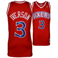 """Allen Iverson Signed Philadelphia 76ers Jersey Inscribed """"The Answer"""" (Fanatics Hologram) at PristineAuction.com"""