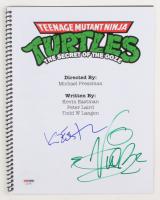 """Vanilla Ice & Kevin Eastman Signed """"Teenage Mutant Ninja Turtles II: The Secret of the Ooze"""" Movie Script (PSA Hologram) at PristineAuction.com"""