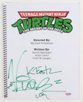 """Vanilla Ice & Kevin Eastman Signed """"Teenage Mutant Ninja Turtles II: The Secret of the Ooze"""" Movie Script (PSA Hologram)"""