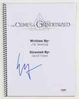 """Ezra Miller Signed """"Fantastic Beasts: The Crimes of Grindelwald"""" Movie Script (PSA Hologram) at PristineAuction.com"""