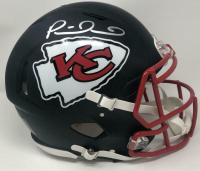 Patrick Mahomes Signed Kansas City Chiefs Full-Size Authentic On-Field Matte Black Speed Helmet (Fanatics Hologram) at PristineAuction.com