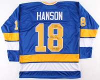 Dave Hanson, Steve Carlson & Jeff Carlson Signed Jersey (Beckett COA) at PristineAuction.com