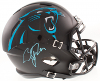 Christian McCaffrey Signed Carolina Panthers Matte Black Full-Size Speed Helmet (JSA COA)