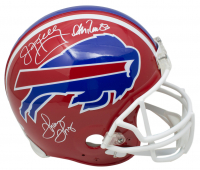 Jim Kelly, Andre Reed & Thurman Thomas Signed Buffalo Bills Full-Size Authentic On-Field Throwback Helmet (JSA COA) at PristineAuction.com