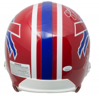 Jim Kelly, Andre Reed & Thurman Thomas Signed Buffalo Bulls Full-Size Authentic On-Field Throwback Helmet (JSA COA) at PristineAuction.com