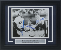 "Joe DiMaggio, Dom DiMaggio & Ted Williams Signed ""Baseball Greats"" 11x14 Custom Framed Photo Display (PSA LOA) at PristineAuction.com"