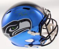 Russell Wilson Signed Seattle Seahawks Full-Size Blue Chrome Helmet (JSA LOA & Wilson COA)