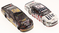 Lot of (2) Brad Keselowski LE 1:24 Scale Die-Cast Cars with Signed #2 Miller Lite Patriotic 2017 Fusion & #2 Miller Genuine Draft Darlington Win 2018 Fusion Elite (Action Collectables COA)