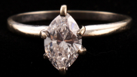 Solitaire .93ct Marquise Brilliant Diamond Ring